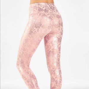 Fabletics pink metallic leggings